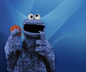 puzzel De Koekiemonster is het eten van een koekje
