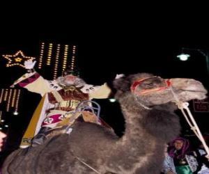 puzzel De koning Melchior rijden zijn kameel