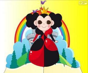 puzzel De Koningin van de harte, de croquet is haar hobby