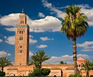 puzzel De Koutoubia-moskee, Marrakech, Marokko