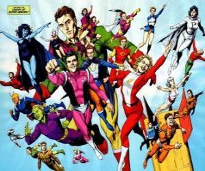 puzzel De Legion of Super Heroes-team is een superheld stripboeken die behoren tot het heelal behoort tot de redactionele DC.