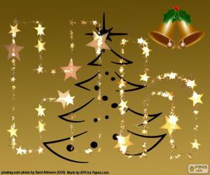 puzzel De letter H, Kerstmis