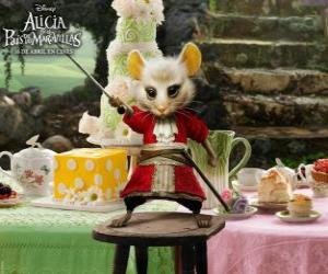puzzel De Liron, is een muis draagt rijbroek.