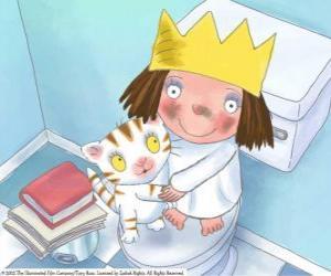 puzzel De Little Princess met haar kat Puss