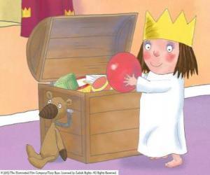 puzzel De Little Princess met haar speelgoed