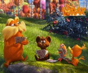 puzzel De Lorax spelen met de dieren van de vallei van Trufula