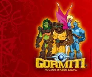 puzzel De machtige heren van de natuur, aan de uitverkorenen te redden van het eiland Gorm