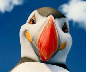 puzzel De machtige Sven, een atlantische papegaaiduiker die kan vliegen