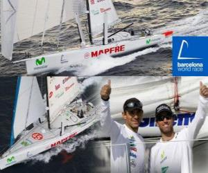 puzzel De Mapfre tweede in de Barcelona World Race 2010-11