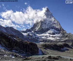 puzzel De Matterhorn, Zwitserland en Italië