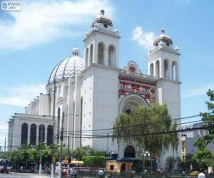 puzzel De Metropolitan kathedraal van de Heilige Verlosser, San Salvador, El Salvador