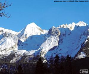 puzzel De Mont Blanc-sneeuw