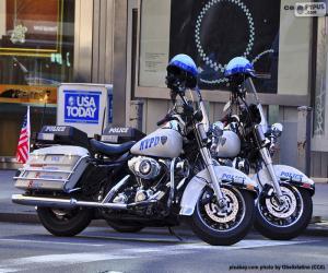 puzzel De Motorfietsen van de Politie van New York