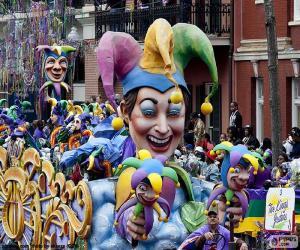 puzzel De narren carnaval