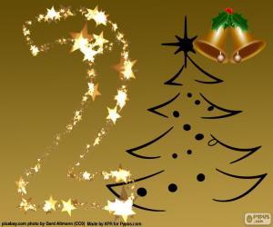 puzzel De nummer 2 van Kerstmis