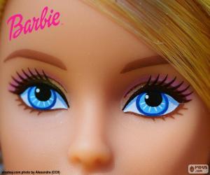 puzzel De ogen van Barbie