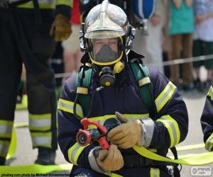 puzzel De opleiding brandweerman