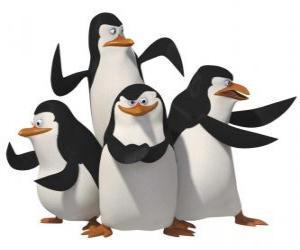 puzzel De pinguïns, Skipper, Kowalski, Rico en Private.