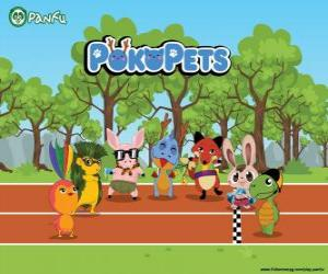 puzzel De Pokopets nieuwe personages Panfu