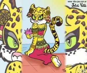 puzzel De prachtige tijgerin. Tekening van Julieta Vitali