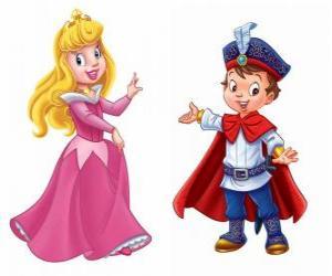 puzzel De prinses en de prins te praten