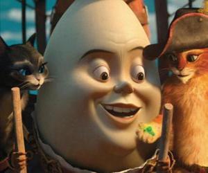puzzel De protagonisten, De Gelaarsde Kat, Humpty en Kitty
