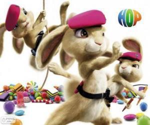 puzzel De roze baretten: schattig, zachte, gevaarlijke