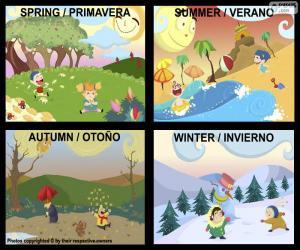 puzzel De seizoenen van het jaar