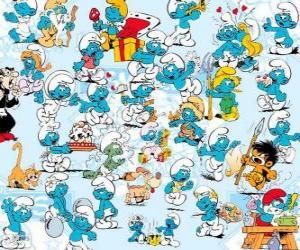 puzzel De Smurfen