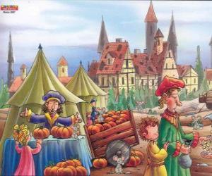 puzzel De stad Hamelen is vergeven van de ratten, hebben de dorpelingen niet weten wat te doen
