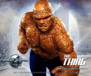 puzzel De sterkste superheld van de Fantastic Four is The Thing
