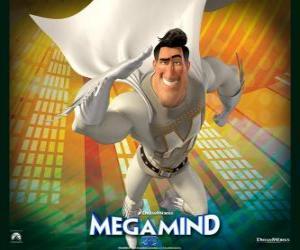 puzzel De superheld Metro Man is de rivaal van de superschurk Megamind