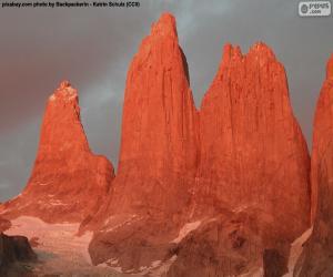 puzzel De torres del Paine, Chili