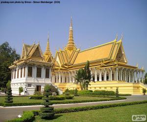 puzzel De troon Hall, Cambodja