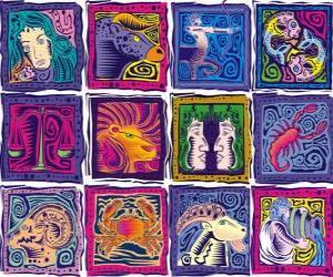 puzzel De twaalf tekens van de dierenriem