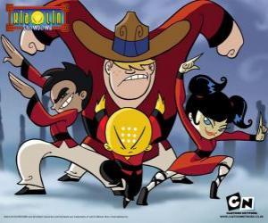 puzzel De vier jonge monniken, protagonisten van Xiaolin Showdown