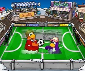 puzzel De voetbalwedstrijd Club Penguin