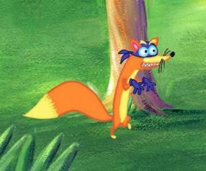 puzzel De vos Swiper is altijd probeert iets te stelen Dora