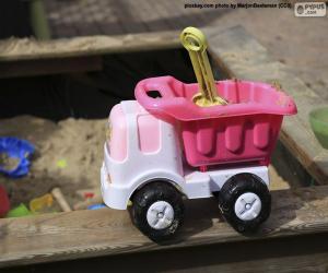 puzzel De vrachtwagen van het speelgoed