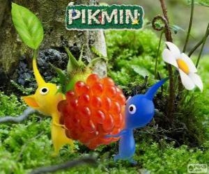 puzzel De vreemde wezens Pikmin