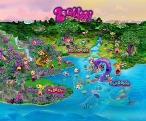 puzzel De wereld van de Zoobles