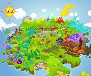 puzzel De wereld van Moshi Monsters
