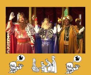 puzzel De Wijzen of de drie koningen, Caspar, Melchior en Balthasar