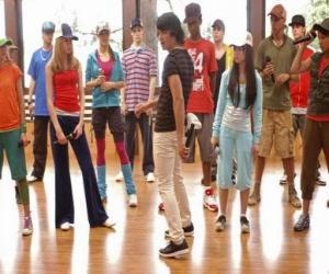 puzzel De zanger Shane Gray (Joe Jonas) het geven van een dansles