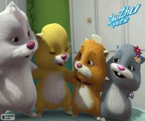 puzzel De Zhu Zhu huisdieren hamsters