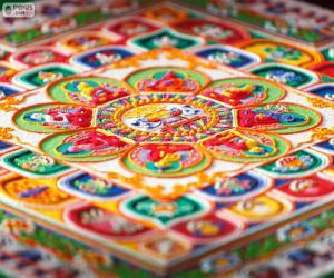 puzzel Details van mandala