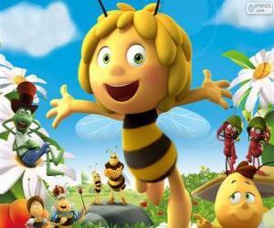 puzzel Die Biene Maja en andere tekens
