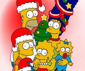 puzzel Die Simpsons wensen u een vrolijk kerstfeest