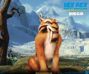puzzel Diego, de sabel tand tijger