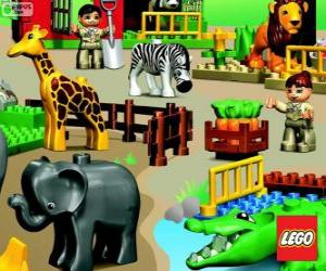 puzzel Dierentuin van Lego